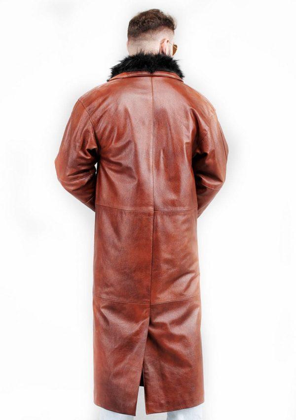 мужской кожаный плащ коричневый фото Alberto.ru