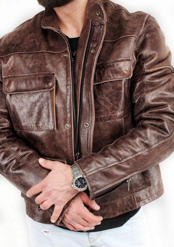 короткая кожаная мужская куртка весна осень