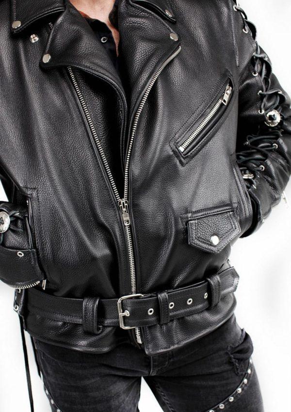 косуха кожаная мужская байкерская фото Alberto.ru