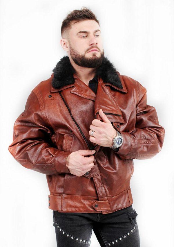 зимняя кожаная куртка мужская с мехом фото Alberto.ru