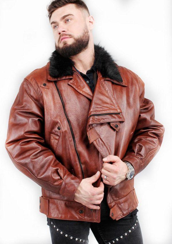 кожаная мужская куртка утепленная зимняя Alberto.ru