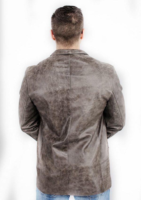 мужской кожаный пиджак серый фото Alberto.ru