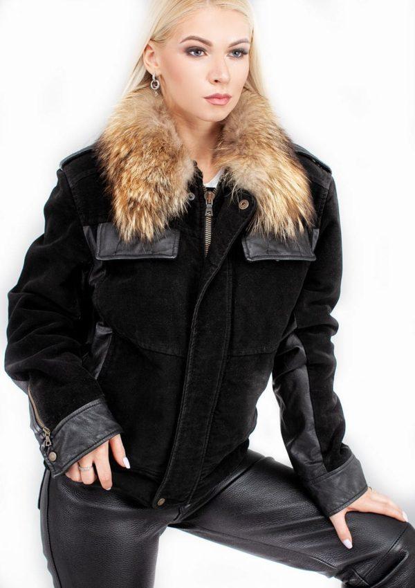 зимняя кожаная куртка с мехом женская Alberto.ru