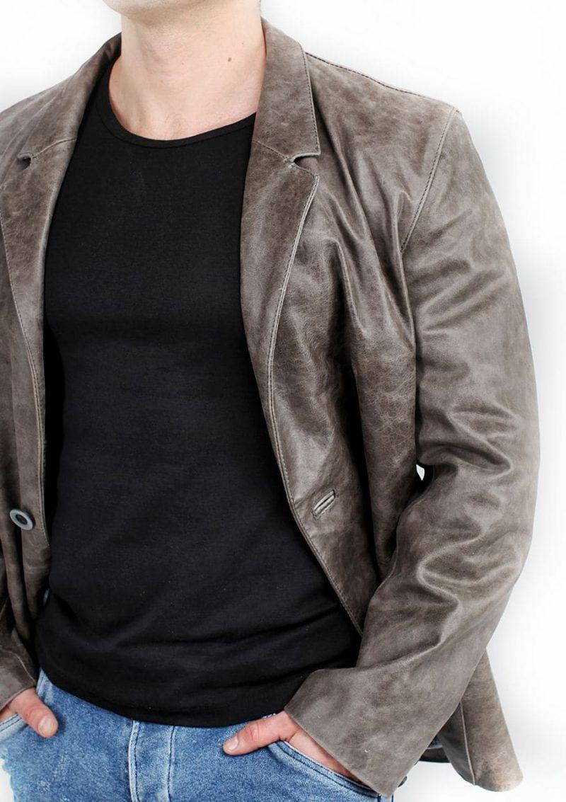 мужской кожаный пиджак клубный Alberto.ru