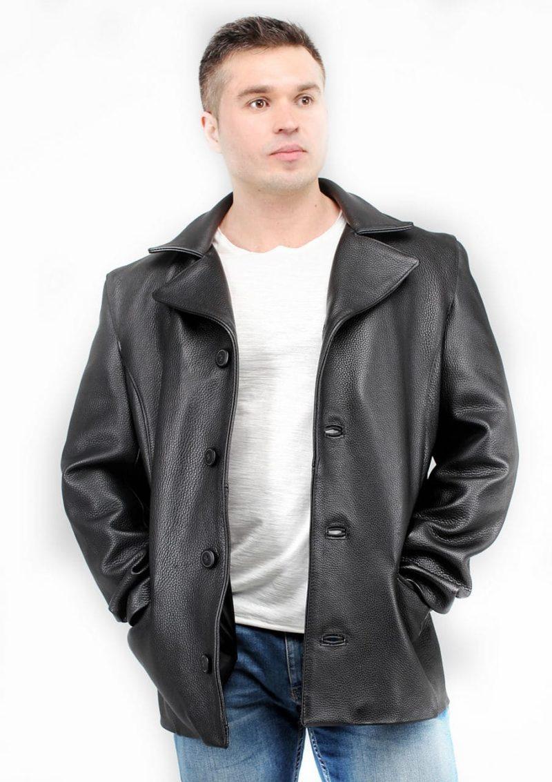 мужской кожаный пиджак черный Alberto.ru