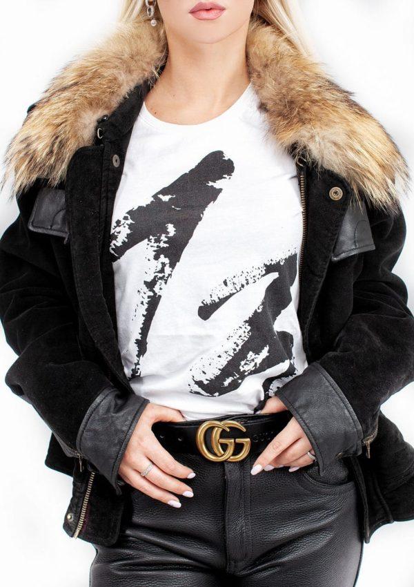 теплая кожаная женская куртка Alberto.ru