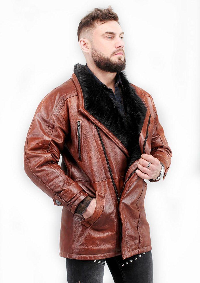 мужская кожаная куртка теплая Alberto.ru