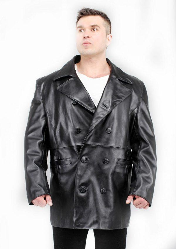 мужской кожаный пиджак черный натуральная кожа Alberto.ru