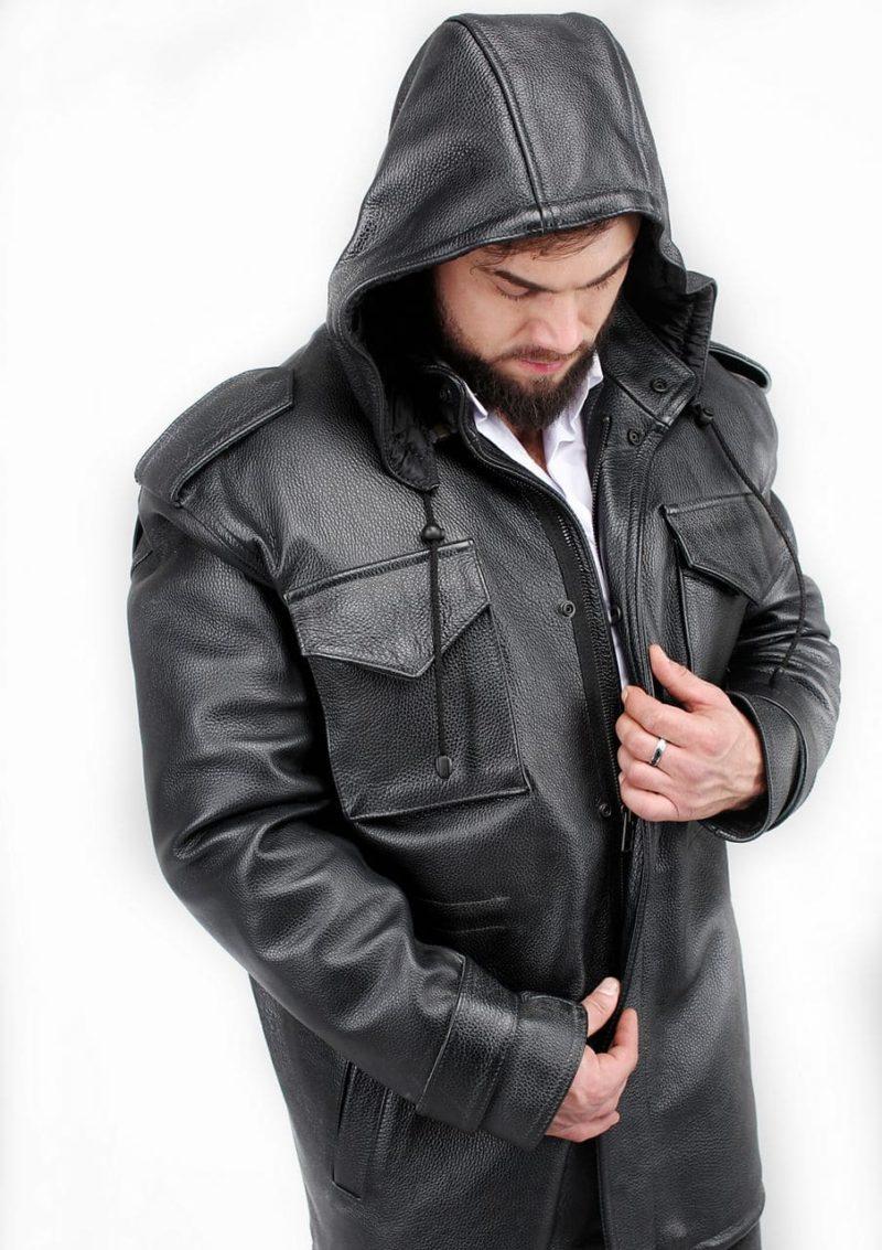 кожаная куртка удлиненная мужская фото Alberto.ru