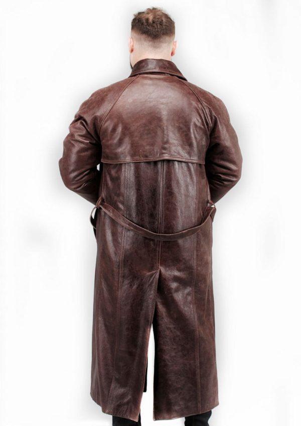 мужской кожаный плащ коричневый Alberto.ru