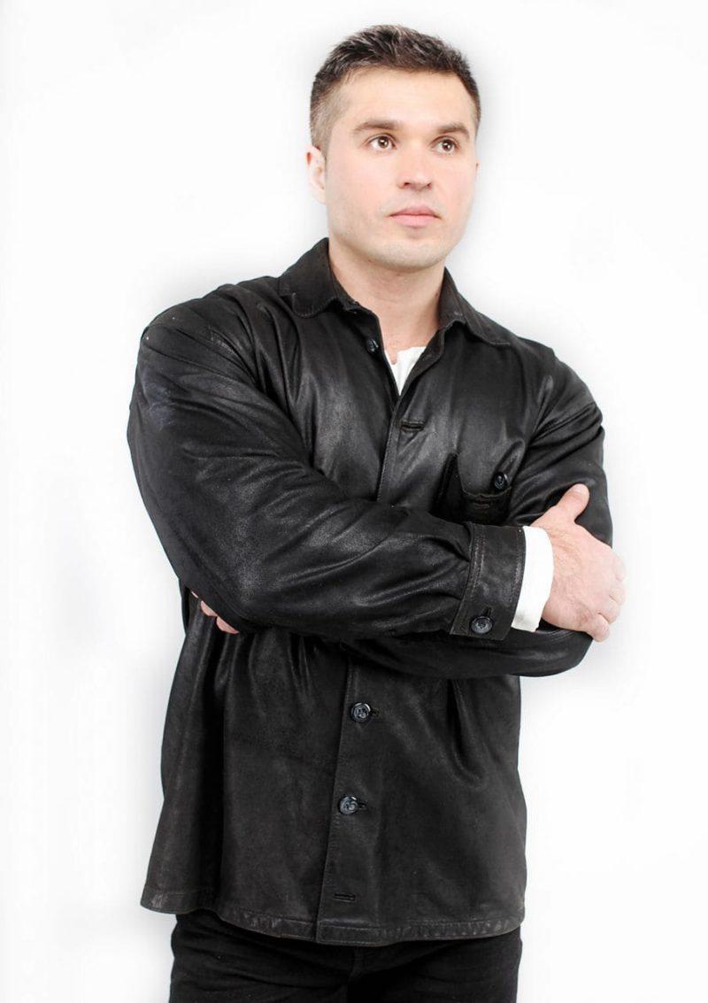 мужская кожаная рубашка фото Alberto.ru