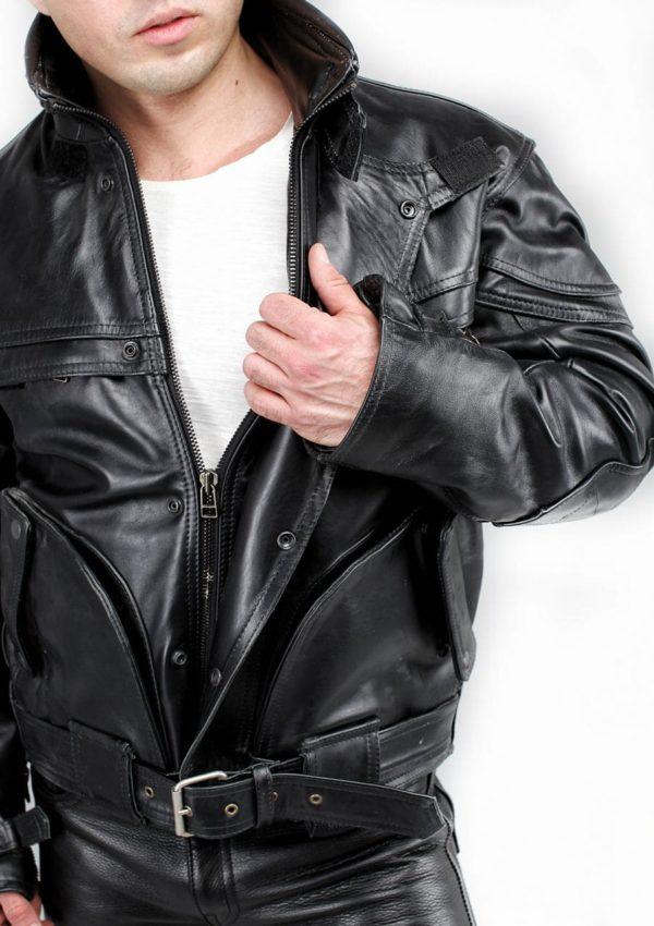 кожаная байкерская мотокуртка мужская фото