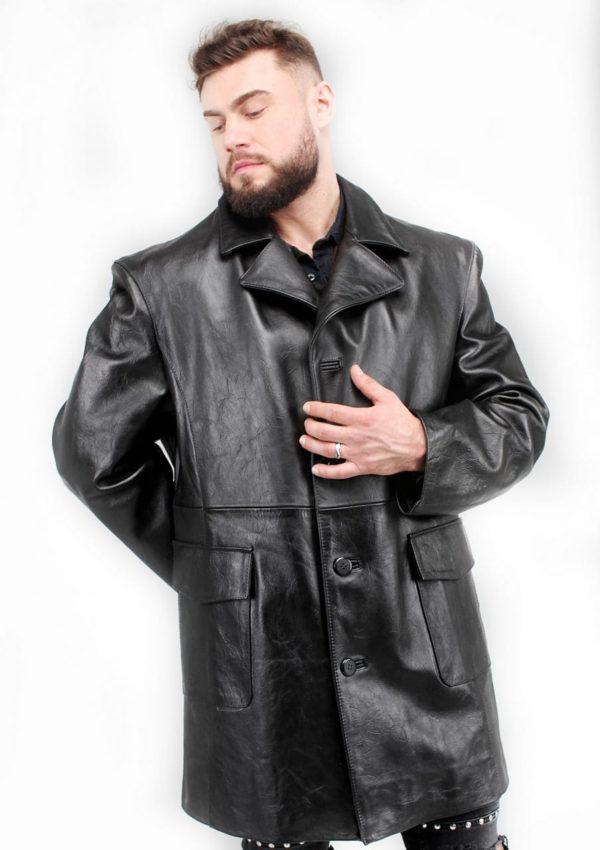 мужской кожаный пиджак длинный Alberto.ru