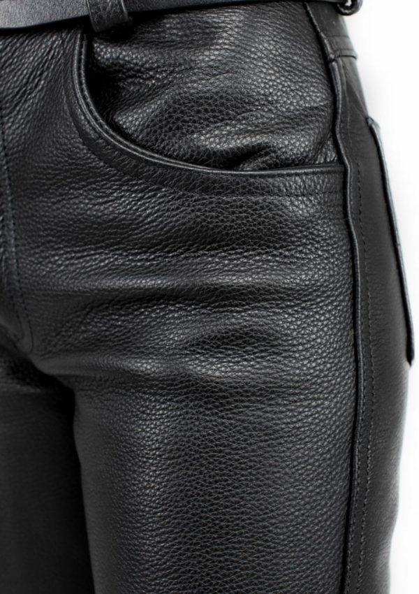 черные кожаные брюки женские натуральные