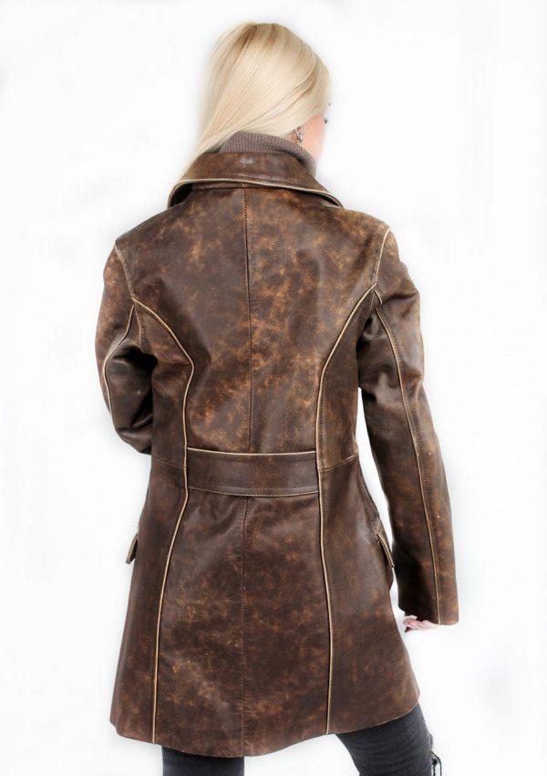 женский кожаный пиджак приталенный Alberto.ru