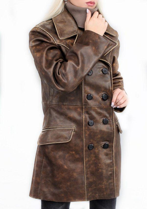 удлиненный кожаный пиджак женский фото Alberto.ru