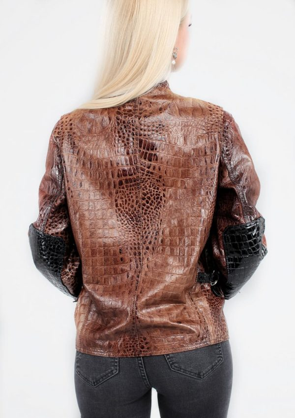 кожаная куртка имитация крокодила фото Alberto.ru
