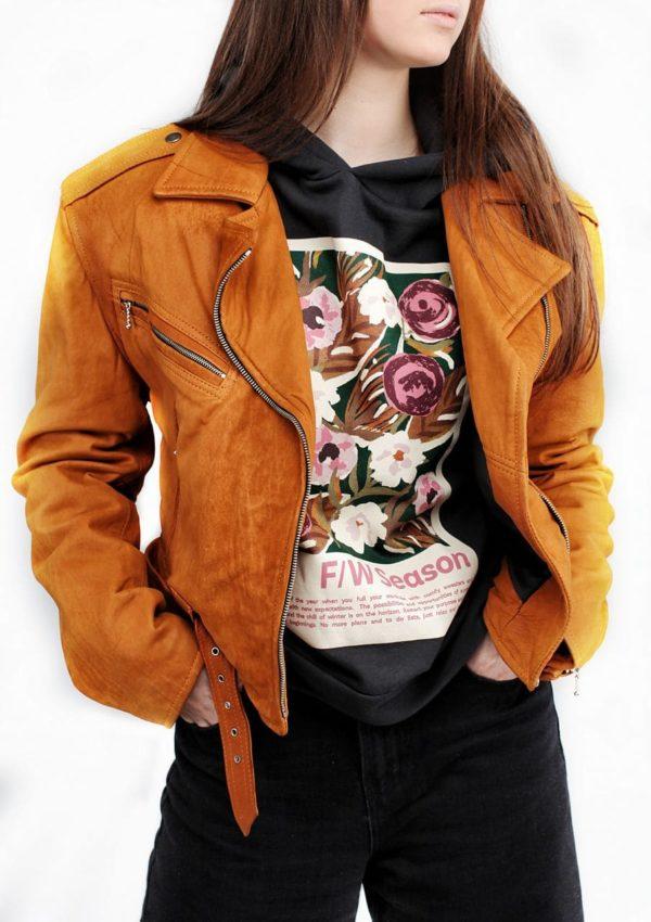 кожаная женская косуха модная фото Alberto