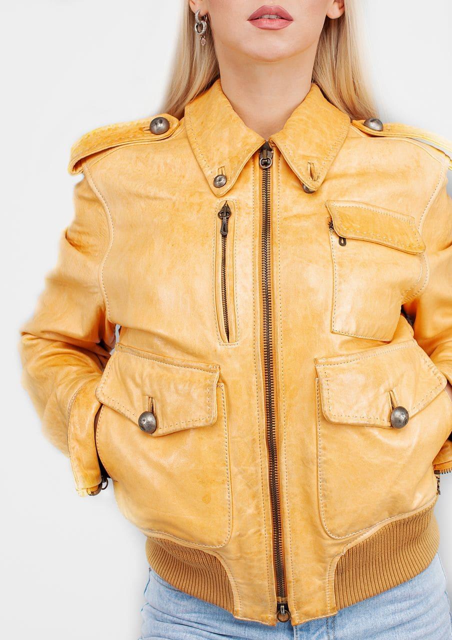модная кожаная женская куртка бомбер Alberto.ru