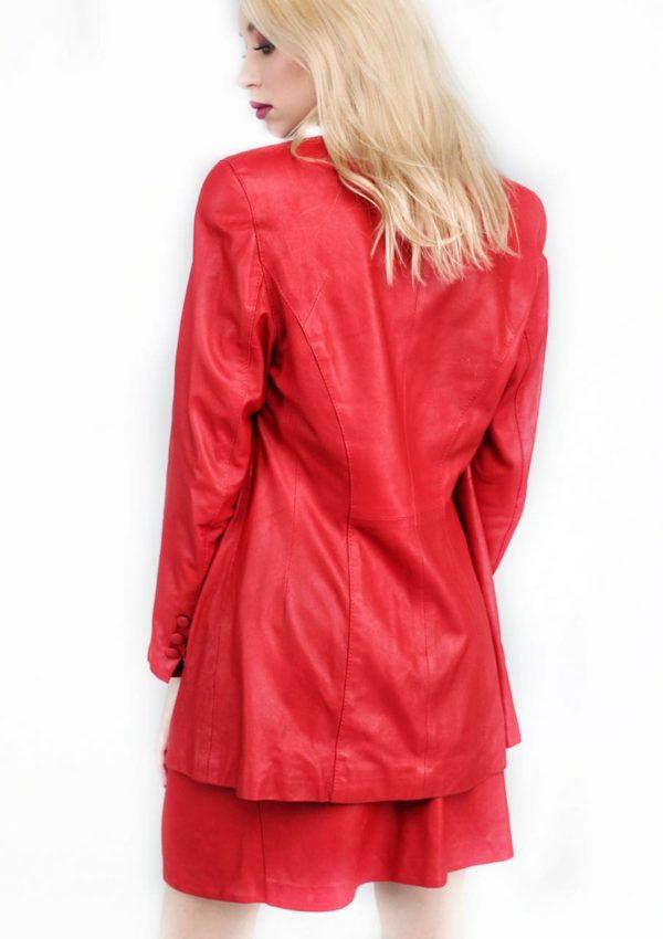 красный костюм из натуральной кожи Alberto.ru
