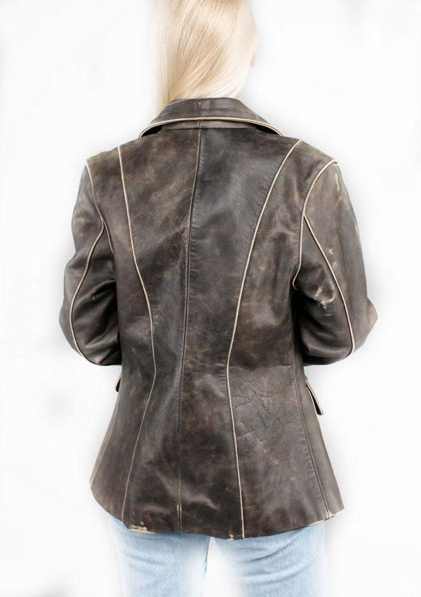 женский кожаный пиджак натуральная кожа фото Alberto.ru