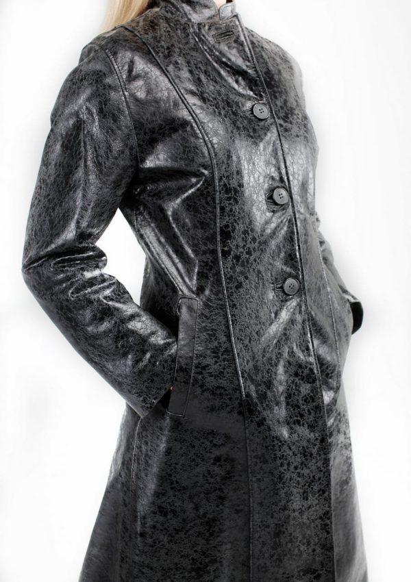 женский кожаный плащ приталенный Alberto.ru