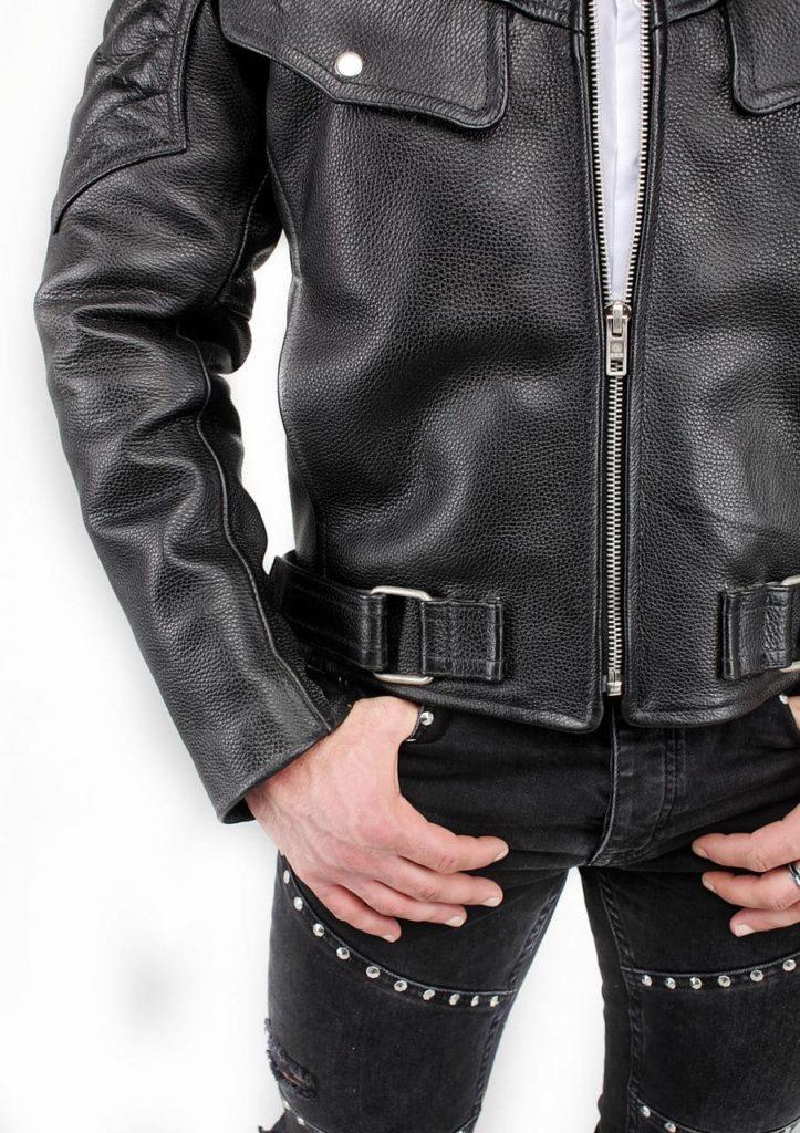 кожаная мотокуртка мужская натуральная кожа Alberto.ru
