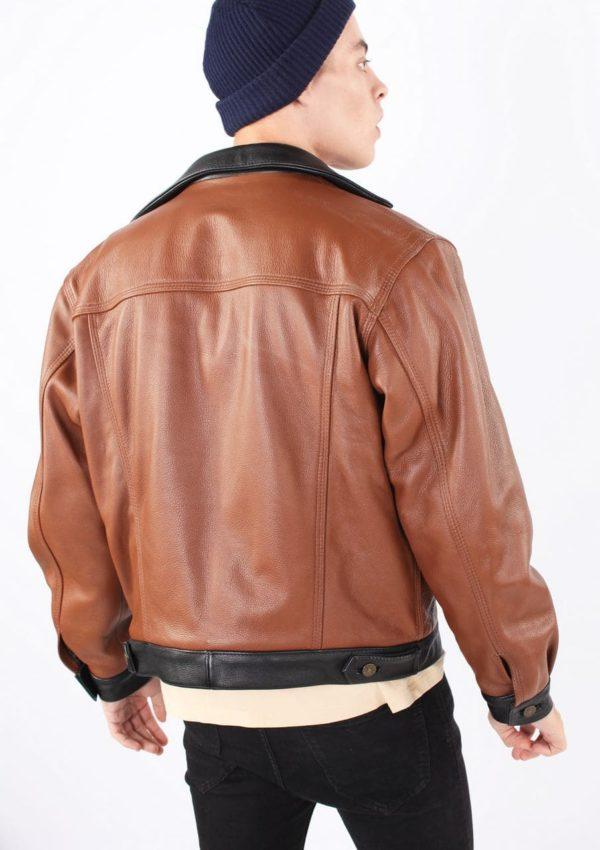 коричневая кожаная куртка мужская фото Alberto.ru