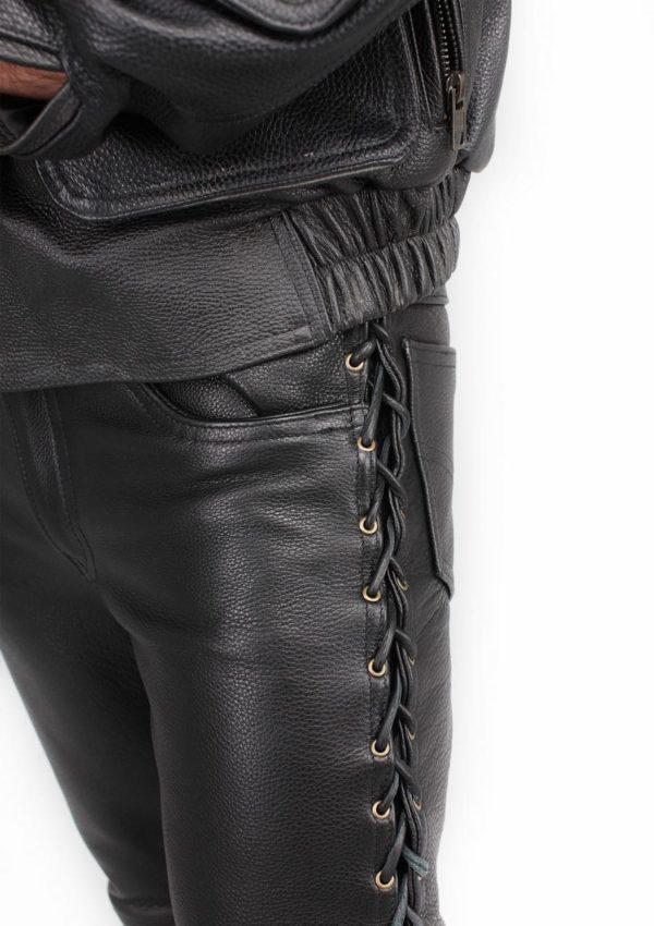 кожаные брюки мужские со шнуровкой Alberto.ru
