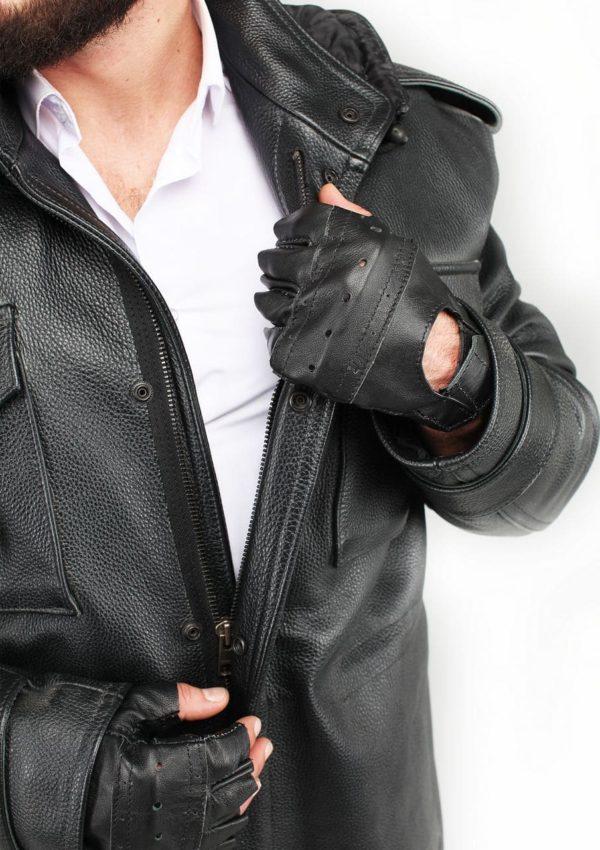 кожаные перчатки без пальцев Alberto.ru