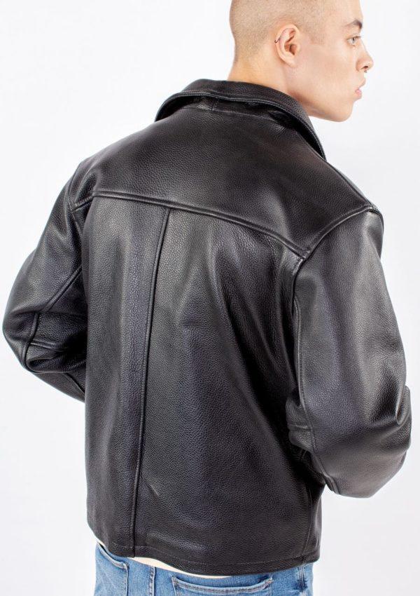 черная кожаная куртка натуральная фото Alberto.ru