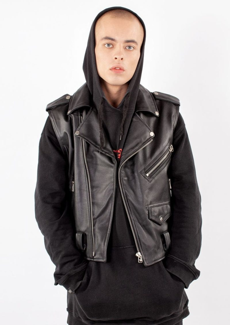кожаный мужской жилет-косуха Alberto.ru