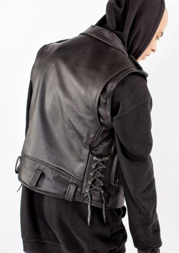 кожаный жилет мужской байкерский