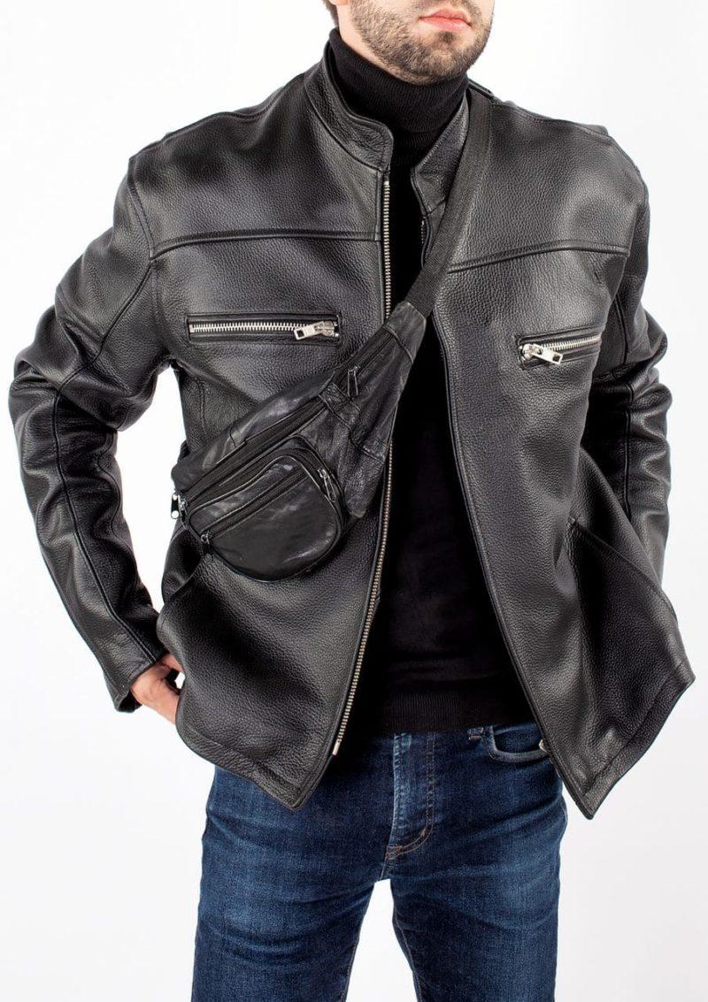 кожаная куртка мужская натуральная кожа на молнии Alberto.ru