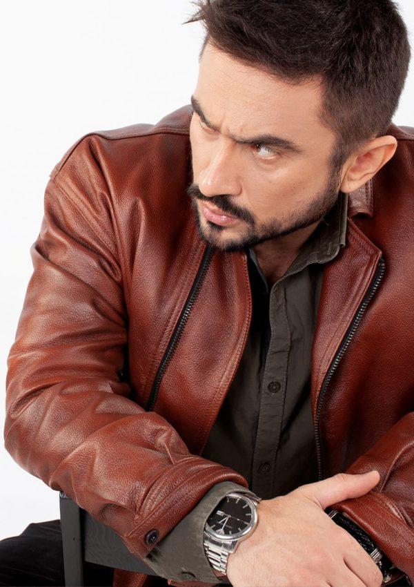 кожаная куртка мужская коричневая фото Alberto.ru