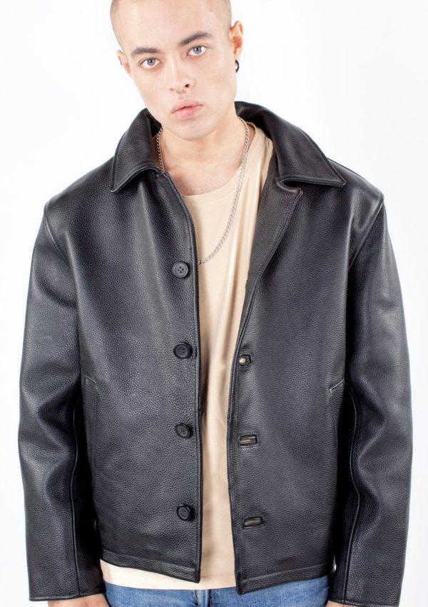 кожаная куртка мужская на пуговицах Alberto.ru