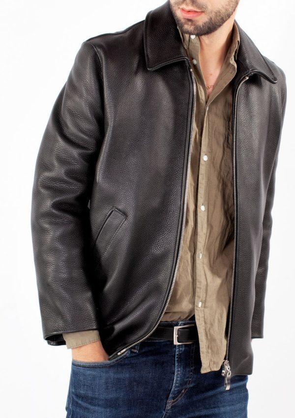 черная кожаная куртка мужская классическая