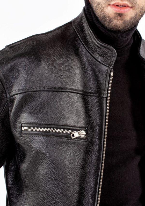 кожаная мужская куртка воротник стойка фото Alberto.ru
