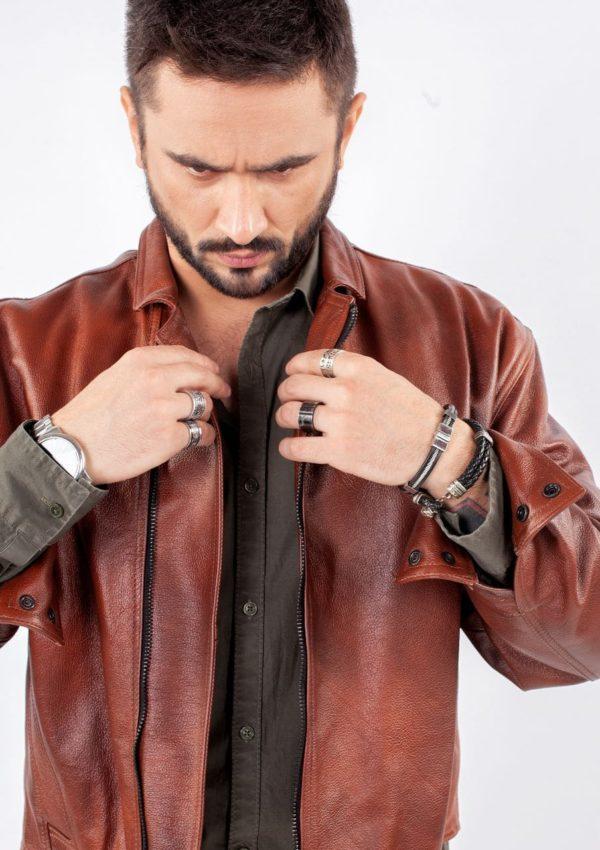 кожаная куртка мужская коричневая Alberto.ru