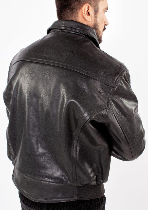 мужская кожаная куртка черная Alberto.ru