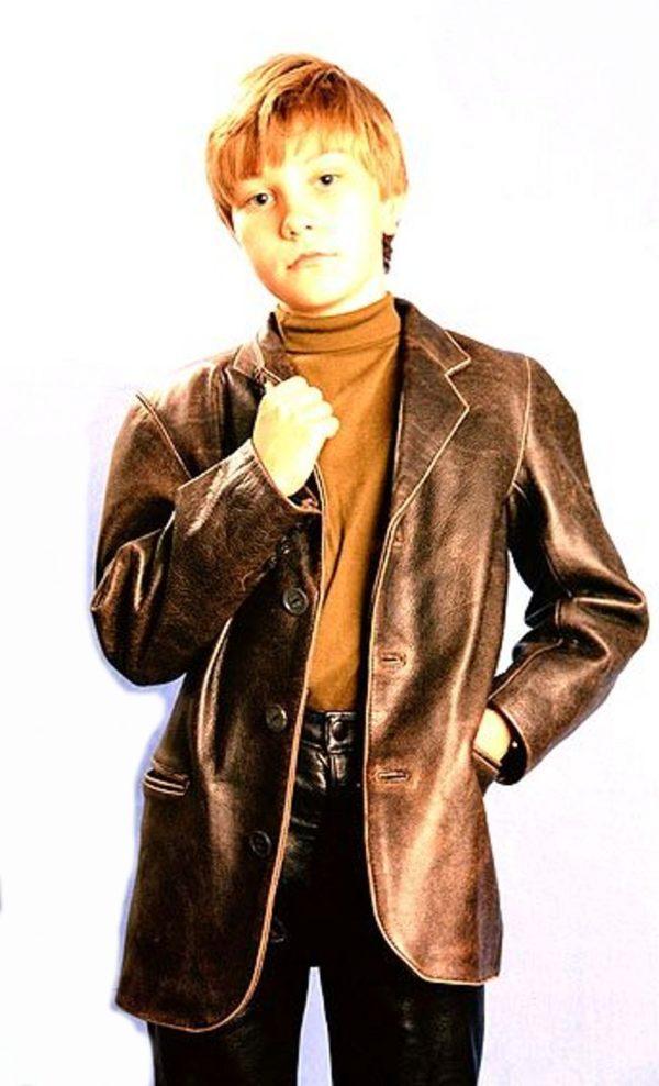 детский кожаный пиджак натуральная кожа Alberto.ru