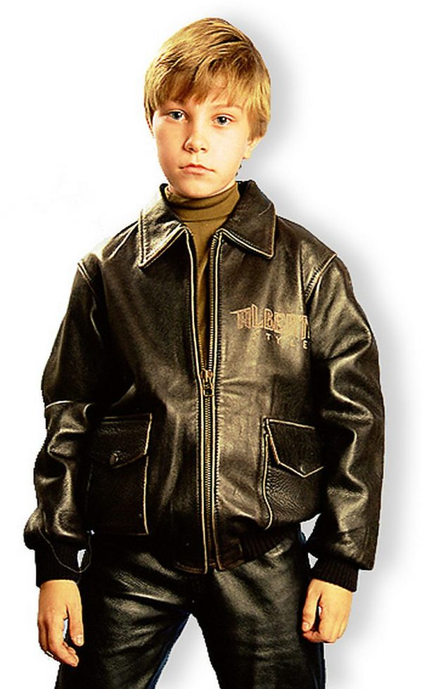 детский кожаный бомбер для мальчика Alberto.ru