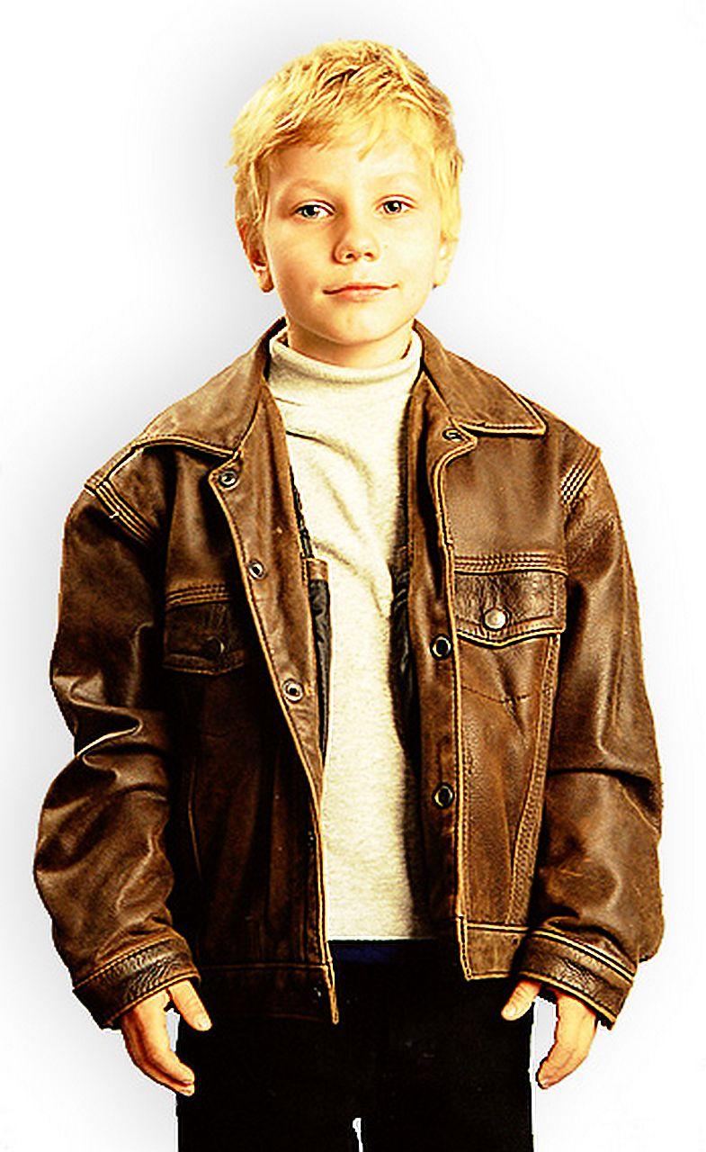 детская кожаная куртка коричневая Alberto.ru