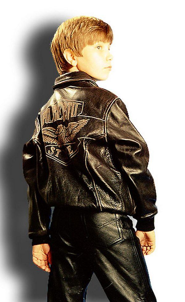 детская кожаная куртка для мальчика Alberto.ru