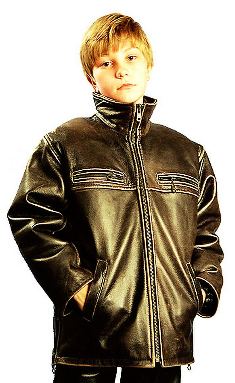 кожаная куртка для мальчиков натуральная Alberto.ru
