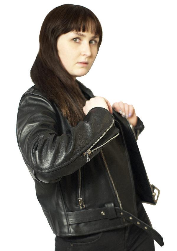 кожаная женская куртка косуха фото Alberto.ru