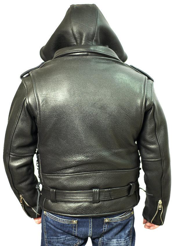 мужская кожаная куртка с капюшоном натуральная кожа Alberto.ru
