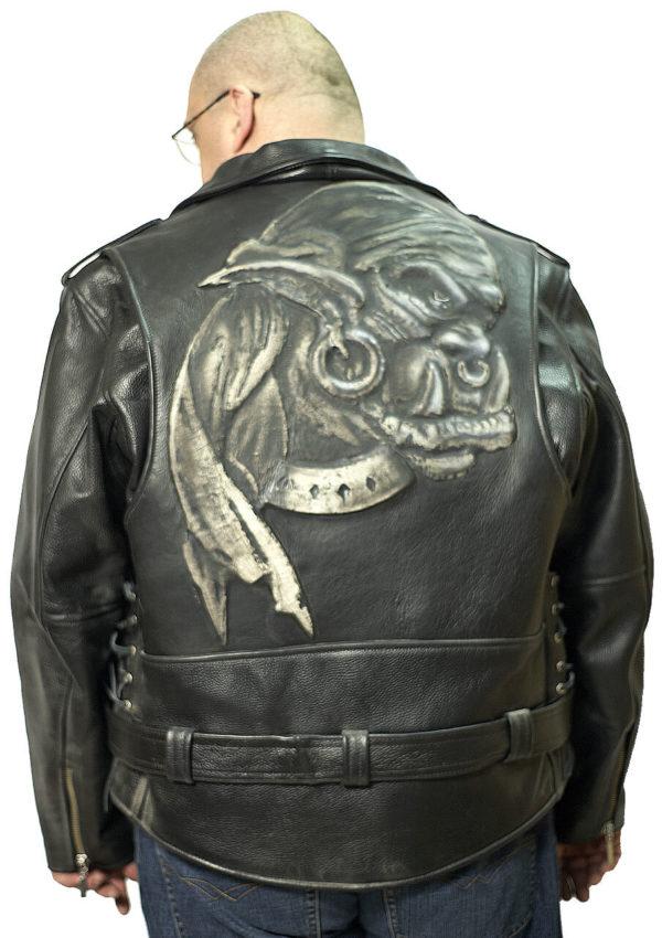 кожаная куртка с тиснением большие размеры Alberto.ru
