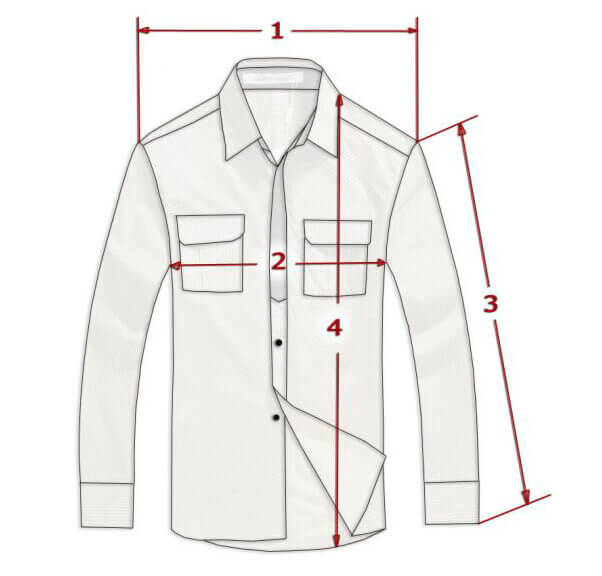 Подобрать размер МУЖЧИНАМ Рубашки
