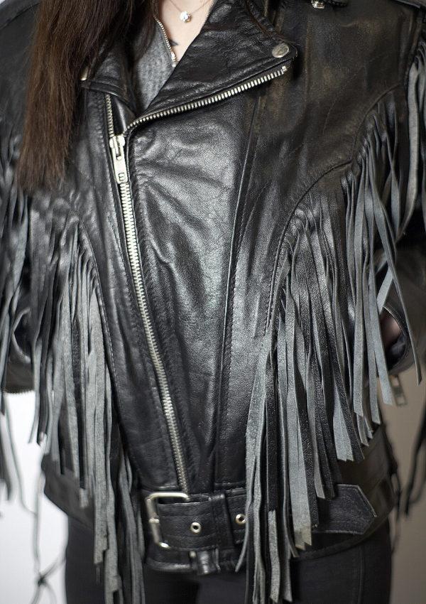 кожаная женская косуха с бахромой натуральная кожа Alberto.ru
